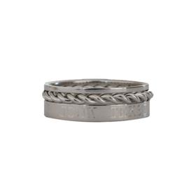 Stapel ringen SET - met eigen tekst gravering