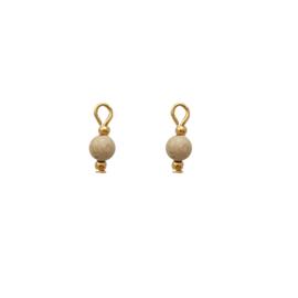 Oorbellen paar hangers | halfedelsteen ZAND - goud