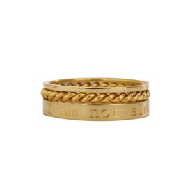 Stapel ringen SET - met eigen tekst gravering | GOUD