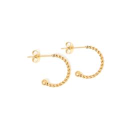 Oorbellen creolen goud 13 mm | WOKKEL