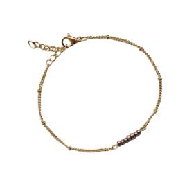 Stel zelf samen | Armband met kraaltjes brons - GOUD