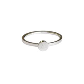 Ring initiaal | ZILVER