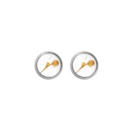 Oorbellen paar hangers | Droogbloem 12 mm - ZILVER