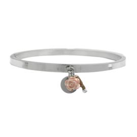 Armband BANGLE roosje  | zacht  roze