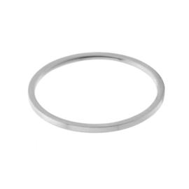 Ring basic 1 mm | ZILVER