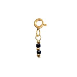 Ketting/Armband hanger - Rocailles zwart | GOUD