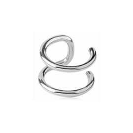 Oorbellen EAR CUFF basic 1 - zilver