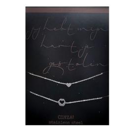 Armbanden SET | gestolen hart - ZILVER