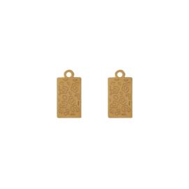 Oorbellen paar hangers |  LEOPARD - goud