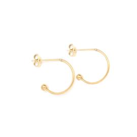 Oorbellen creolen voor verwisselbare hangers | 13 mm - GOUD