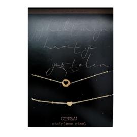 Armbanden SET | gestolen hart - GOUD