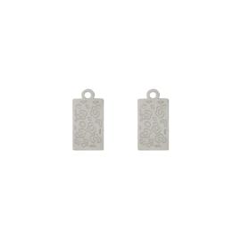 Oorbellen paar hangers |  LEOPARD - zilver