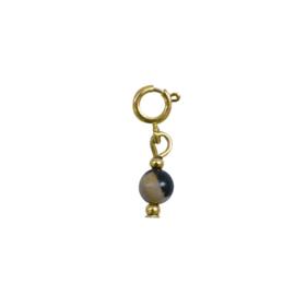 Ketting/Armband hanger - Natuursteen met print | GOUD