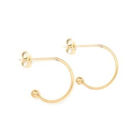 Oorbellen paar  hoops voor verwisselbare hangers | 15 mm - GOUD