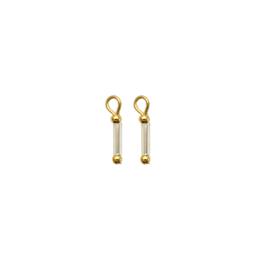 Oorbellen paar hangers | Glaskraal - Goud