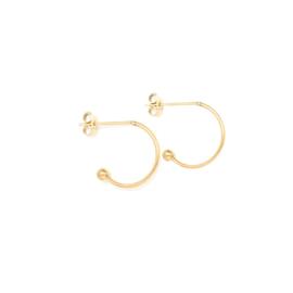 Oorbellen paar hoops voor verwisselbare hangers | 10 mm - GOUD