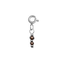 Ketting/Armband hanger - Rocailles brons | ZILVER