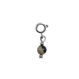 Ketting/Armband hanger - Natuursteen met print | ZILVER