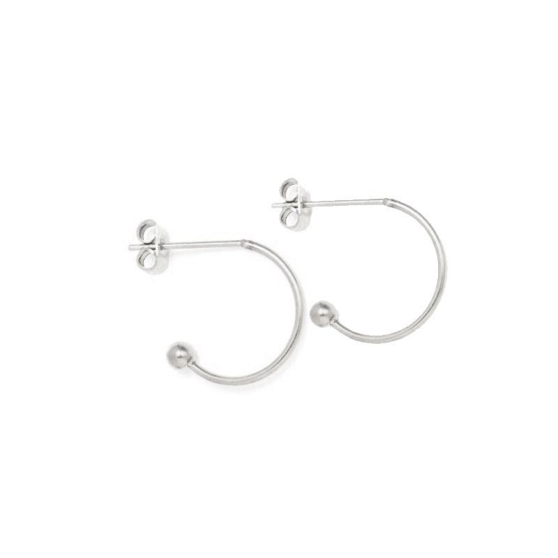 Oorbellen hoops voor verwisselbare hangers | 13 mm - ZILVER