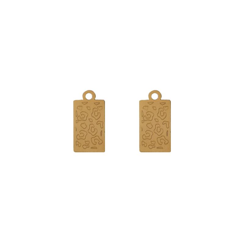 Oorbellen hangers |  LEOPARD - goud