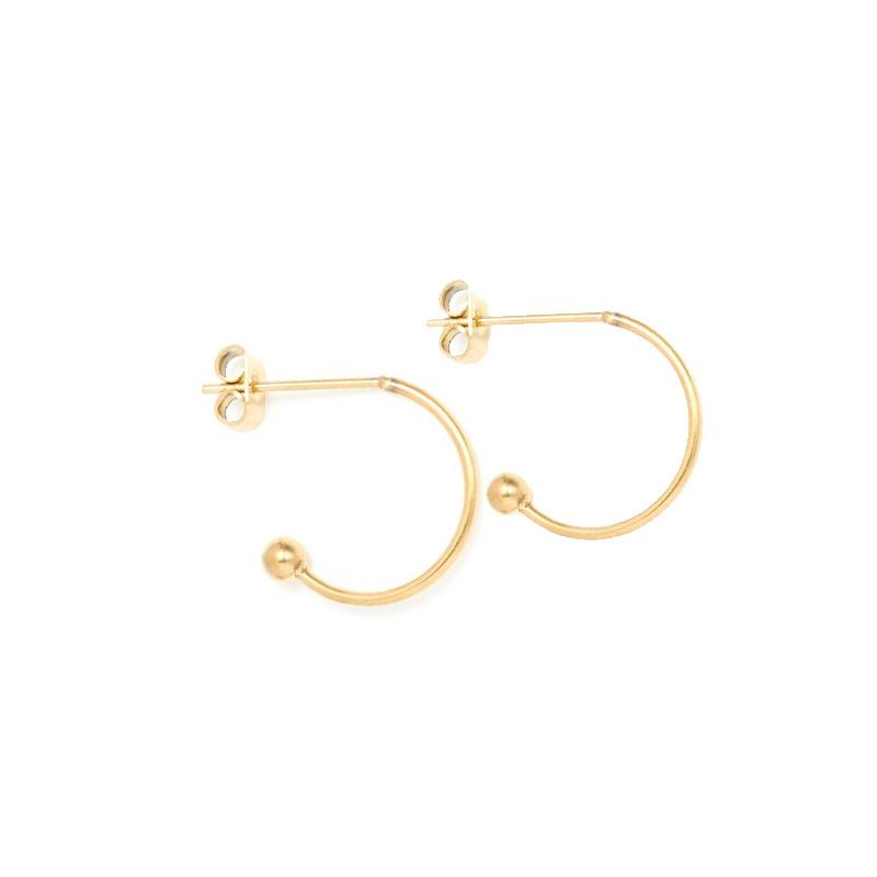Oorbellen hoops voor verwisselbare hangers | 13 mm - GOUD