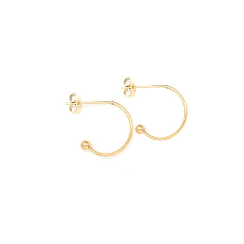 Oorbellen hoops voor verwisselbare hangers | 10 mm - GOUD