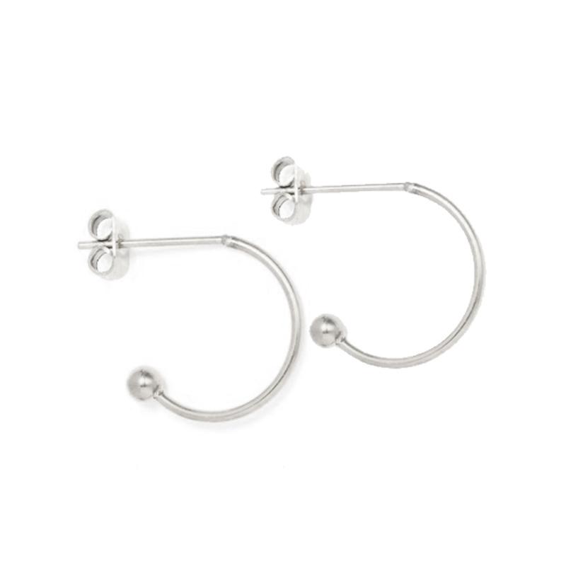 Oorbellen hoops voor verwisselbare hangers | 15 mm - ZILVER