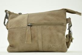 Bag2Bag - Dames schoudertas Kansas - taupe/grijs