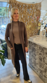 Zoso comfy long cardigan - 215 Romy - taupe