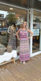 Zomer jurk maxi dress - Roze  One Size