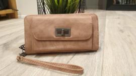 Eternel dames portemonnee met voorvak - zacht roze
