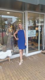 Zomer jurk - Halter One Size - Koningsblauw / Kobaltblauw