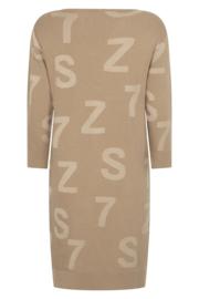 Zoso sweater/dress with tonal artwork - 211 Jordan driftwood