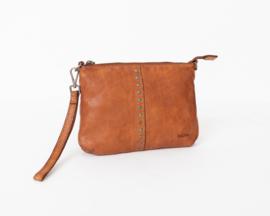 Bag2Bag Limited Edition - Schoudertas/clutch Lucia tan/cognac
