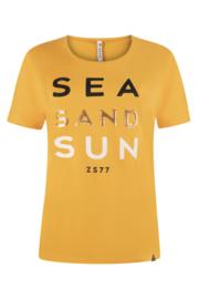 Zoso T-shirt with print  - 214 Sea  summergold