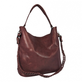 Eleganci / Eternel dames schoudertas / handtas bag in bag - bordeaux rood
