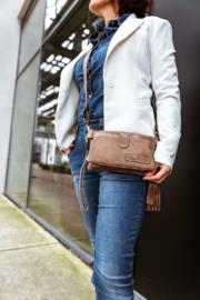 Bag2Bag - Dames schoudertas/clutch Dover - Brandy