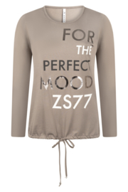 Zoso shirt with print - 215 Mood - taupe