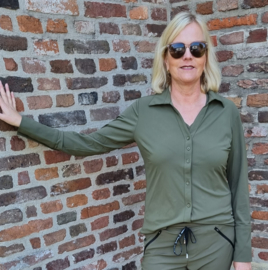 My Pashion Blouse Shantionea travel - Army green groen