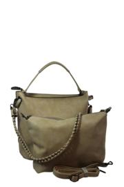 Eleganci / Eternel dames schoudertas / handtas bag in bag - licht taupe
