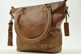 Bag2Bag - Dames schoudertas Texas - camel cognac