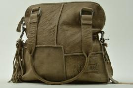 Bag2Bag - Dames schoudertas Yoro - taupe/grijs