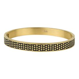 Kalli Kalli armband 2144- 8 mm - goud 63 mm