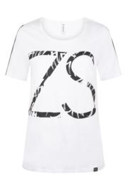 Zoso T-shirt with print  - 214 Jenny White black