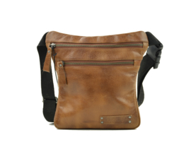 Bag2Bag - Dames heup/schoudertas Tepic - cognac