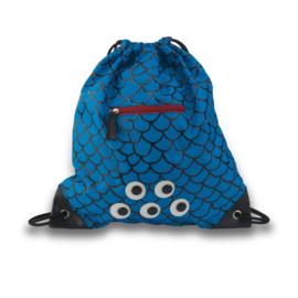 Zebra Trends zwem-/gym tas  - blauw