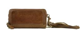 Bag2Bag dames schoudertas / clutch / wallet Tennessee - cognac