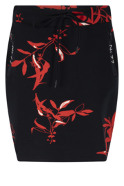 Zoso Allover printed sweat skirt / rokje- 213 Steffie Navy / Summer Red
