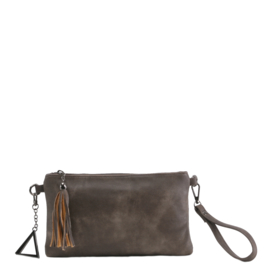 Just Dreamz - Schoudertas / clutch Bianca - taupe
