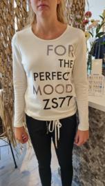 Zoso shirt with print - 215 Mood - off white black